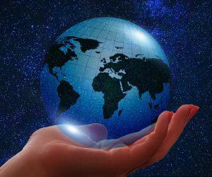 smaller sparkly globe